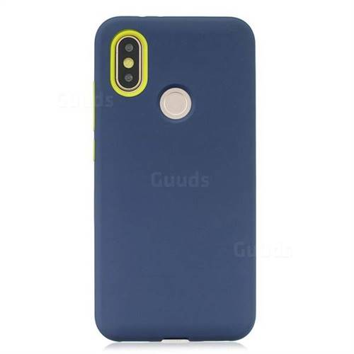 brand new 792c0 3578a Matte PC + Silicone Shockproof Phone Back Cover Case for Xiaomi Mi A2 (Mi  6X) - Dark Blue