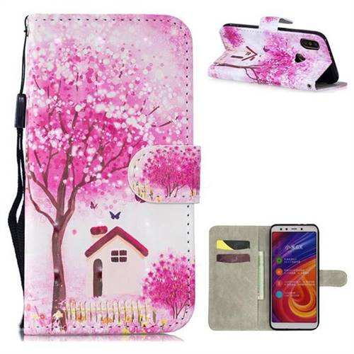 Tree House 3D Painted Leather Wallet Phone Case for Xiaomi Mi A2 (Mi 6X)