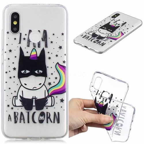 Batman Clear Varnish Soft Phone Back Cover for Xiaomi Mi 8