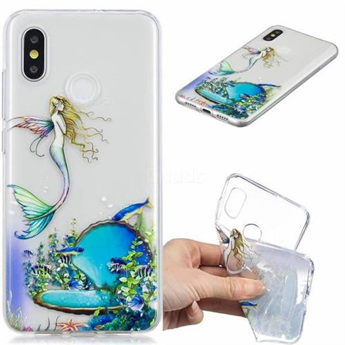 Mermaid Clear Varnish Soft Phone Back Cover for Xiaomi Mi 8