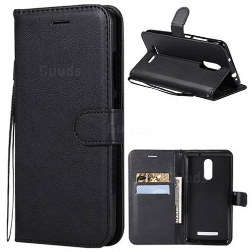 Retro Greek Classic Smooth PU Leather Wallet Phone Case for Xiaomi Mi 8 - Black