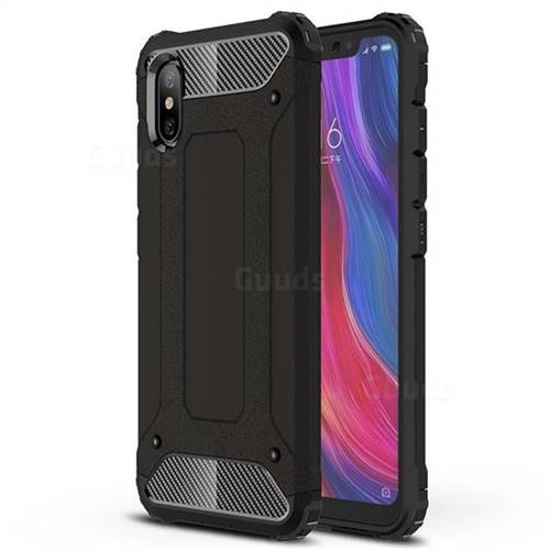 King Kong Armor Premium Shockproof Dual Layer Rugged Hard Cover for Xiaomi Mi 8 Explorer - Black Gold