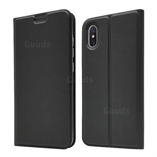 Ultra Slim Card Magnetic Automatic Suction Leather Wallet Case for Xiaomi Mi 8 Explorer - Star Grey