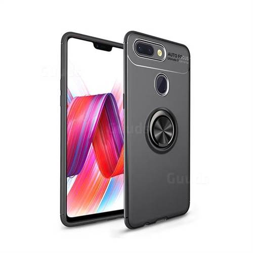 Auto Focus Invisible Ring Holder Soft Phone Case for Xiaomi Mi 8 Lite / Mi 8 Youth / Mi 8X - Black