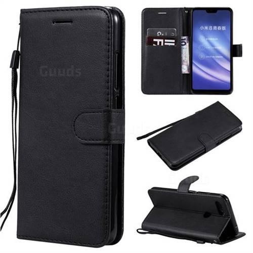 Retro Greek Classic Smooth PU Leather Wallet Phone Case for Xiaomi Mi 8 Lite / Mi 8 Youth / Mi 8X - Black