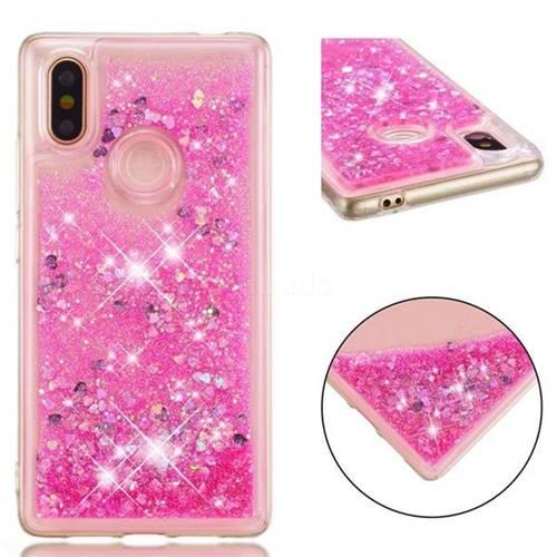 Dynamic Liquid Glitter Quicksand Sequins TPU Phone Case for Xiaomi Mi 8 SE - Rose