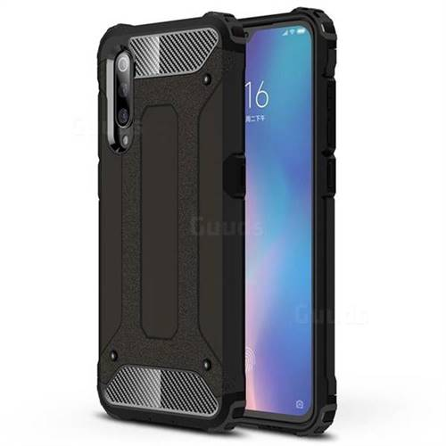 King Kong Armor Premium Shockproof Dual Layer Rugged Hard Cover for Xiaomi Mi 9 - Black Gold
