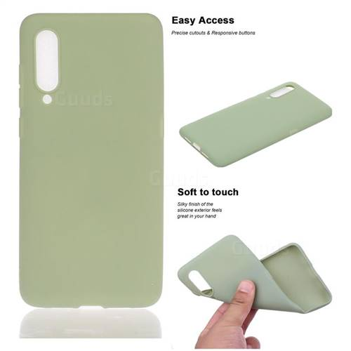 Soft Matte Silicone Phone Cover for Xiaomi Mi 9 - Bean Green