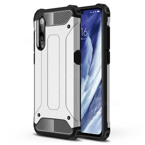 King Kong Armor Premium Shockproof Dual Layer Rugged Hard Cover for Xiaomi Mi 9 Pro - White