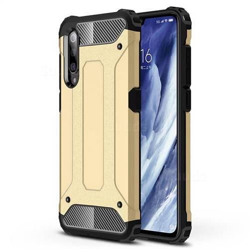 King Kong Armor Premium Shockproof Dual Layer Rugged Hard Cover for Xiaomi Mi 9 Pro - Champagne Gold