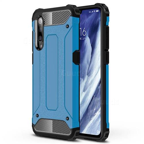 King Kong Armor Premium Shockproof Dual Layer Rugged Hard Cover for Xiaomi Mi 9 Pro - Sky Blue