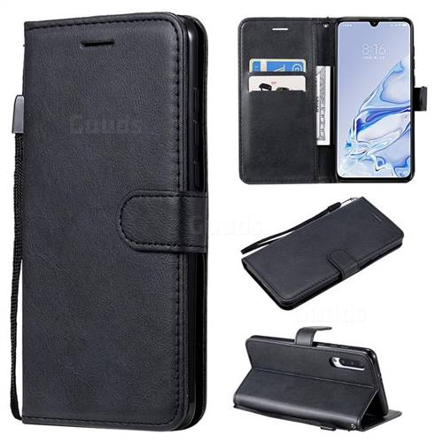 Retro Greek Classic Smooth PU Leather Wallet Phone Case for Xiaomi Mi 9 Pro 5G - Black