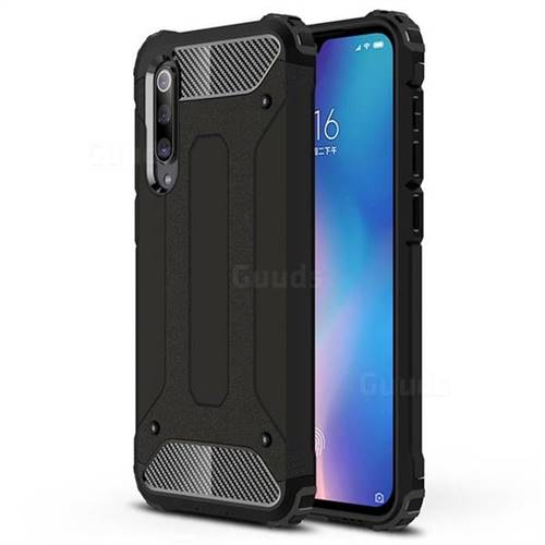 King Kong Armor Premium Shockproof Dual Layer Rugged Hard Cover for Xiaomi Mi 9 SE - Black Gold
