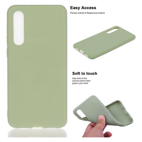 Soft Matte Silicone Phone Cover for Xiaomi Mi 9 SE - Bean Green