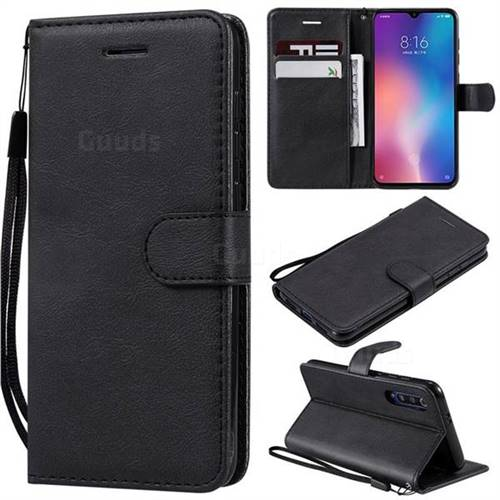 Retro Greek Classic Smooth PU Leather Wallet Phone Case for Xiaomi Mi 9 SE - Black
