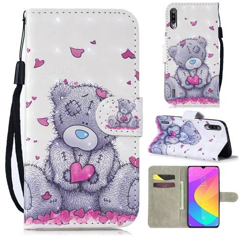 Love Panda 3D Painted Leather Wallet Phone Case for Xiaomi Mi A3