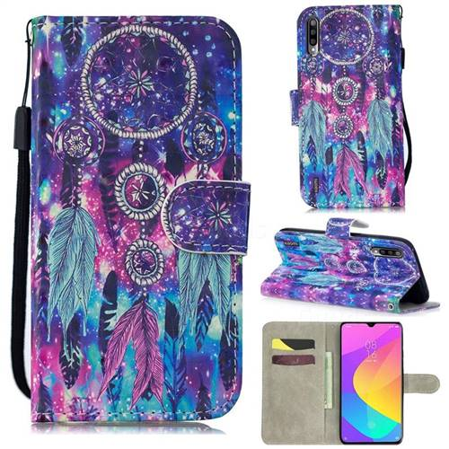 Star Wind Chimes 3D Painted Leather Wallet Phone Case for Xiaomi Mi A3