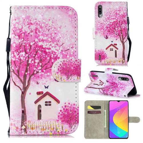 Tree House 3D Painted Leather Wallet Phone Case for Xiaomi Mi A3