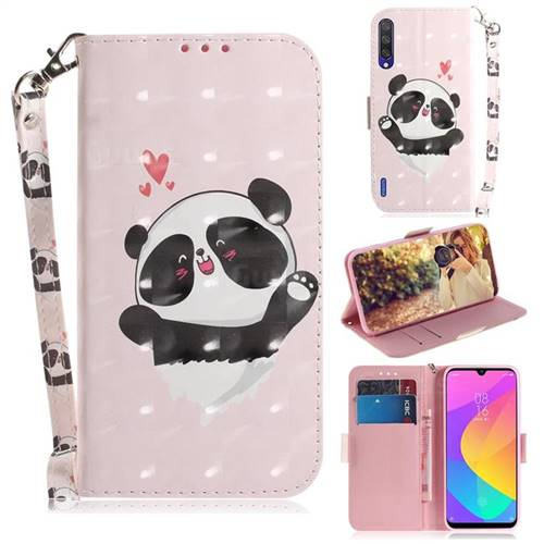 Heart Cat 3D Painted Leather Wallet Phone Case for Xiaomi Mi CC9 (Mi CC9mt Meitu Edition)