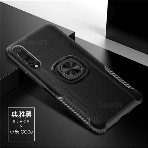 Knight Armor Anti Drop PC + Silicone Invisible Ring Holder Phone Cover for Xiaomi Mi CC9e - Black