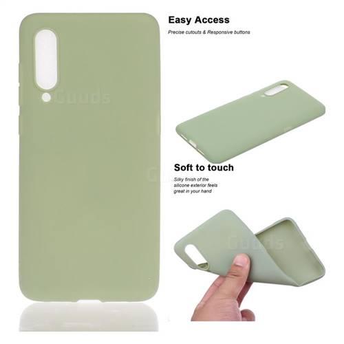 Soft Matte Silicone Phone Cover for Xiaomi Mi CC9e - Bean Green