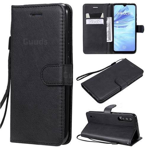 Retro Greek Classic Smooth PU Leather Wallet Phone Case for Xiaomi Mi CC9e - Black