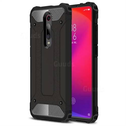 King Kong Armor Premium Shockproof Dual Layer Rugged Hard Cover for Xiaomi Redmi K20 / K20 Pro - Black Gold