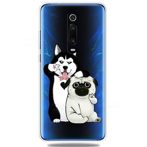 Selfie Dog Clear Varnish Soft Phone Back Cover for Xiaomi Redmi K20 / K20 Pro