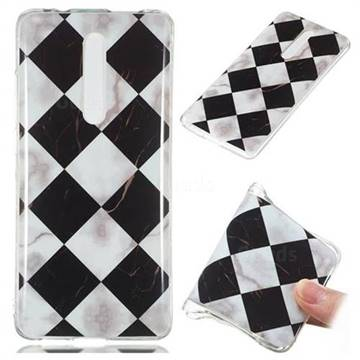 Black and White Matching Soft TPU Marble Pattern Phone Case for Xiaomi Redmi K20 / K20 Pro