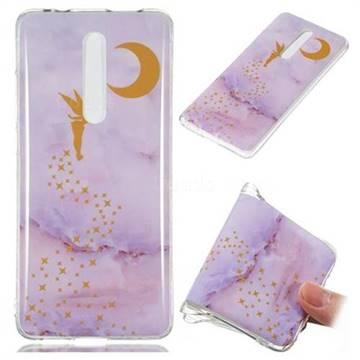 Elf Purple Soft TPU Marble Pattern Phone Case for Xiaomi Redmi K20 / K20 Pro