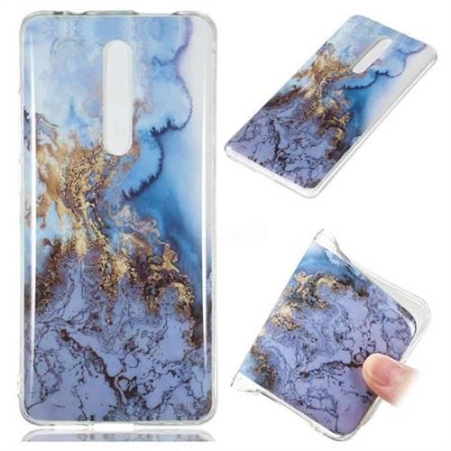 Sea Blue Soft TPU Marble Pattern Case for Xiaomi Redmi K20 / K20 Pro