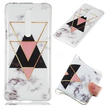 Inverted Triangle Black Soft TPU Marble Pattern Phone Case for Xiaomi Redmi K20 / K20 Pro