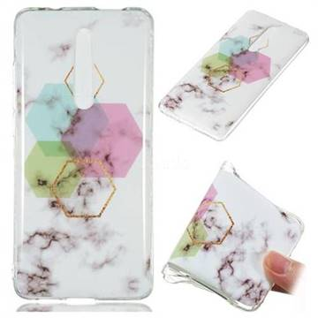 Hexagonal Soft TPU Marble Pattern Phone Case for Xiaomi Redmi K20 / K20 Pro