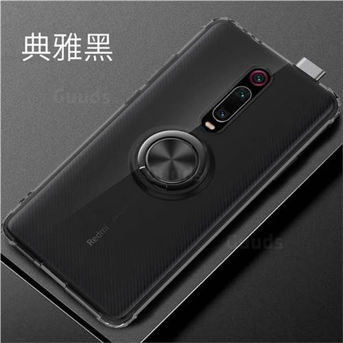 Anti-fall Invisible Press Bounce Ring Holder Phone Cover for Xiaomi Redmi K20 / K20 Pro - Elegant Black