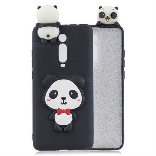 Red Bow Panda Soft 3D Climbing Doll Soft Case for Xiaomi Redmi K20 / K20 Pro