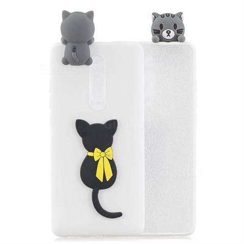 Little Black Cat Soft 3D Climbing Doll Soft Case for Xiaomi Redmi K20 / K20 Pro