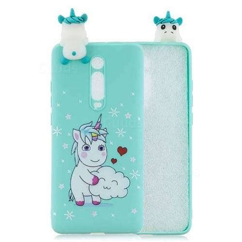 Heart Unicorn Soft 3D Climbing Doll Soft Case for Xiaomi Redmi K20 / K20 Pro