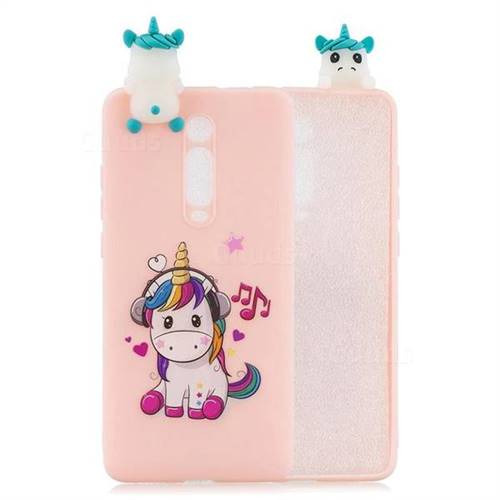 Music Unicorn Soft 3D Climbing Doll Soft Case for Xiaomi Redmi K20 / K20 Pro