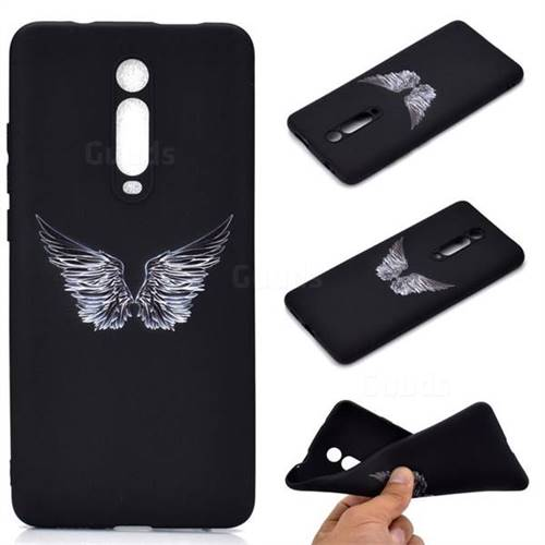 Wings Chalk Drawing Matte Black TPU Phone Cover for Xiaomi Redmi K20 / K20 Pro