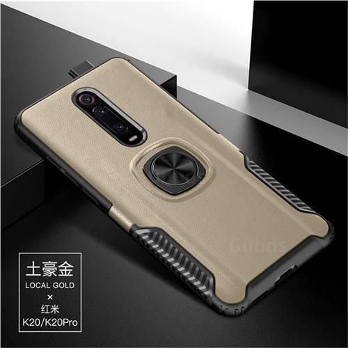 Knight Armor Anti Drop PC + Silicone Invisible Ring Holder Phone Cover for Xiaomi Redmi K20 / K20 Pro - Champagne