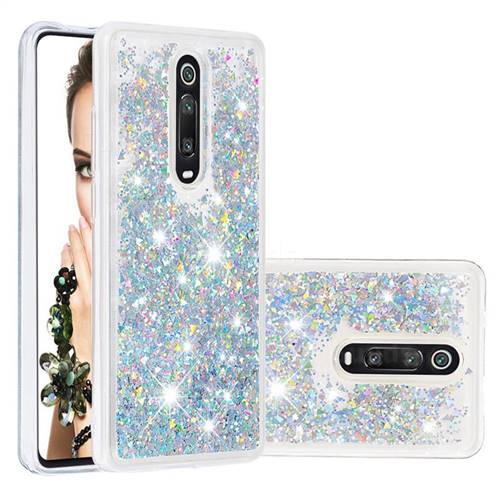 Dynamic Liquid Glitter Quicksand Sequins TPU Phone Case for Xiaomi Redmi K20 / K20 Pro - Silver