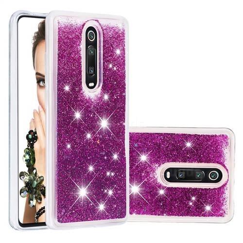 Dynamic Liquid Glitter Quicksand Sequins TPU Phone Case for Xiaomi Redmi K20 / K20 Pro - Purple
