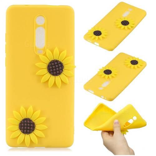 Yellow Sunflower Soft 3D Silicone Case for Xiaomi Redmi K20 / K20 Pro