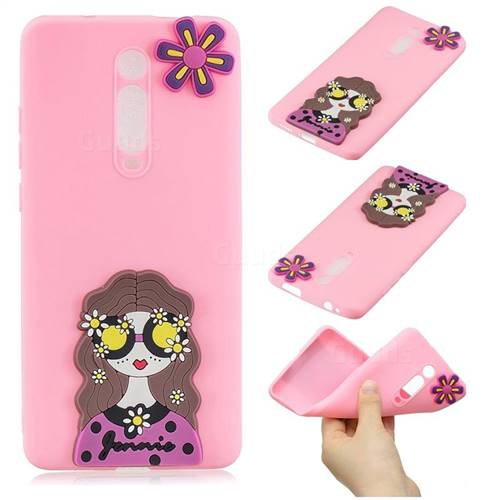 Violet Girl Soft 3D Silicone Case for Xiaomi Redmi K20 / K20 Pro