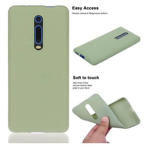 Soft Matte Silicone Phone Cover for Xiaomi Redmi K20 / K20 Pro - Bean Green