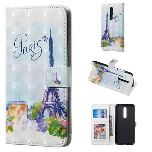 Paris Tower 3D Painted Leather Phone Wallet Case for Xiaomi Redmi K20 / K20 Pro