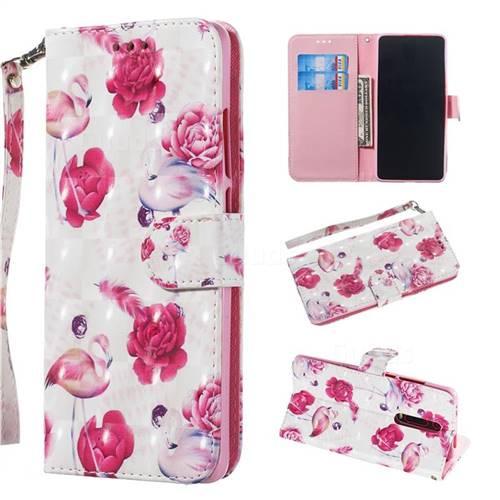 Flamingo 3D Painted Leather Wallet Phone Case for Xiaomi Redmi K20 / K20 Pro