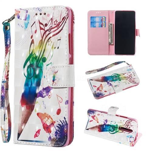Music Pen 3D Painted Leather Wallet Phone Case for Xiaomi Redmi K20 / K20 Pro