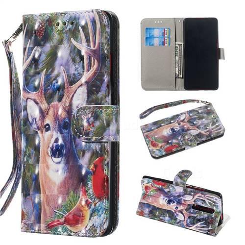 Elk Deer 3D Painted Leather Wallet Phone Case for Xiaomi Redmi K20 / K20 Pro