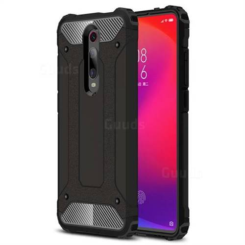 King Kong Armor Premium Shockproof Dual Layer Rugged Hard Cover for Xiaomi Redmi K20 Pro - Black Gold